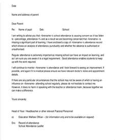 attendance warning letter template 5 free word pdf