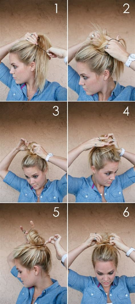 diy hairstyles messy bun diy fat messy bun pictures photos and images for