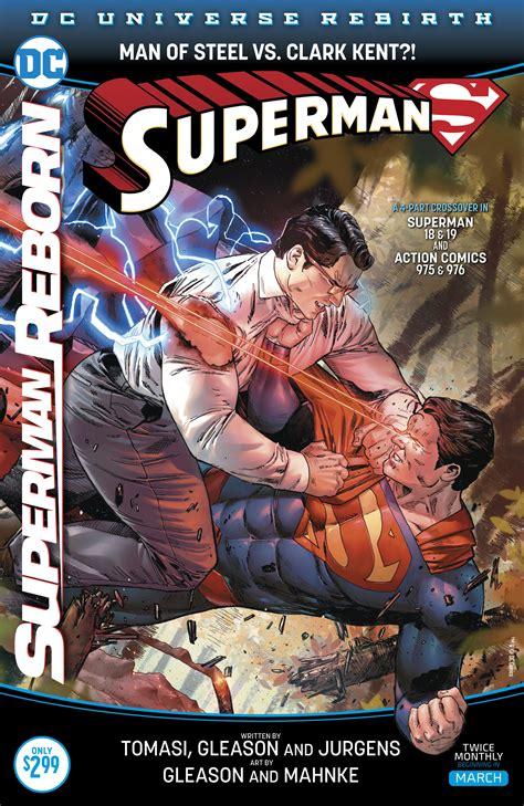 libro superman reborn action comics dc comics rebirth spoilers review superman 18 superman reborn part 1 has clark kent