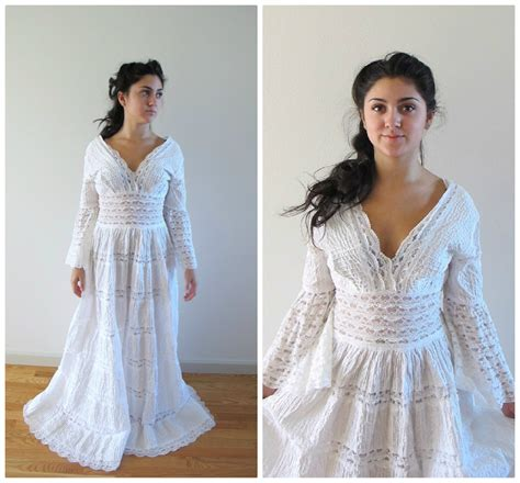 vintage lace mexican wedding dress
