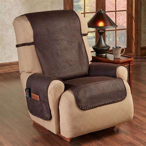 stonehill chocolate faux leather slip resistant furniture