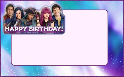 Deck Out Next  Ee  Party Ee   With Descendants Invitations