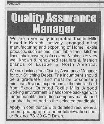 home based textile design jobs karachi based textile mills required staff 2018 jobs pakistan