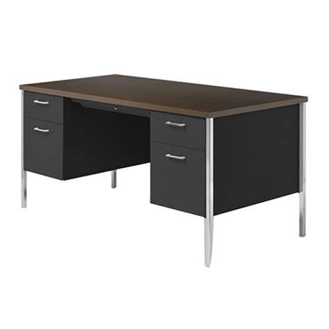 Alera Desks by Alera Alesd6030bm 60 Quot X 30 Quot Walnut And Black
