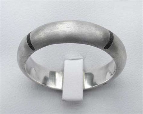 mens wood inlay silver ring love2have in the uk