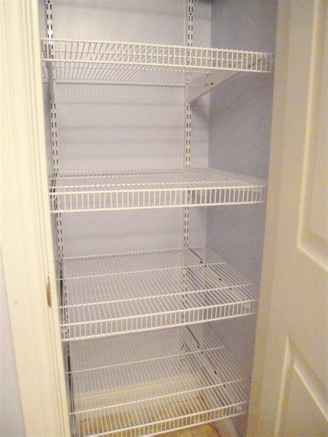 Closet Wire Shelving by Cottage Charm How To Install Wire Shelving Boys