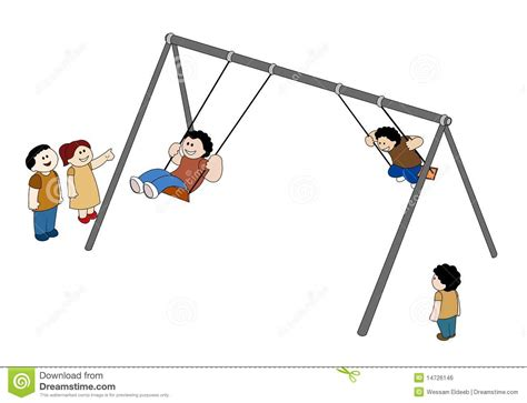 free online swinging swinging children royalty free stock image image 14726146