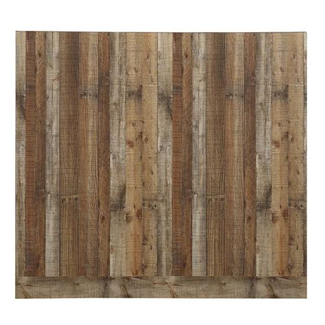 wall panels shop 48 in x 8 ft smooth weathered barnboard mdf wall