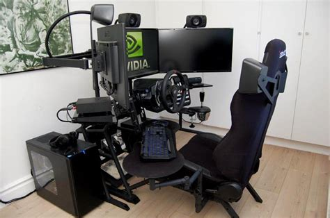 recliner gaming setup guru3d rig of the month october 2014 page 1