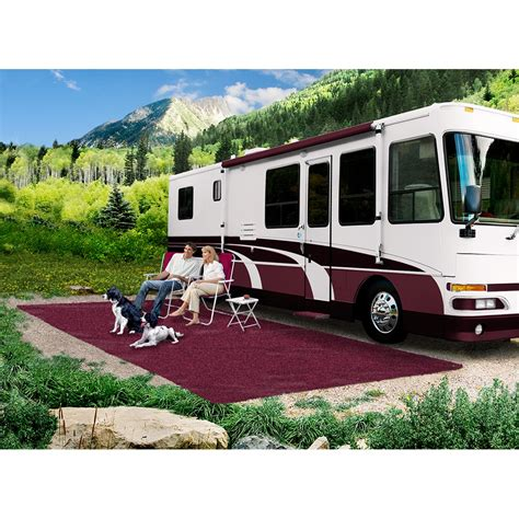 prest o fit patio rug prest o fit 2 1174 cer patio rug 8 foot x 20 foot burgundy wine rv parts