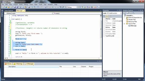 What Of String Do You Use For String - c tutorial 5 strings getline concatenation and