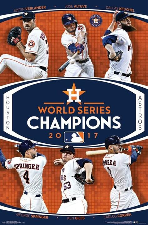 houston astros  world series champions  player commemorative poster trends intl
