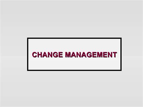Depaul Mba Change Management by Change Management