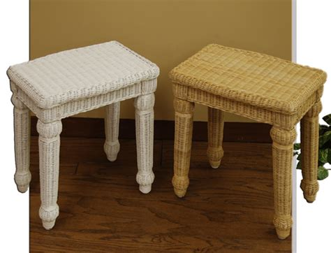 White Wicker Vanity Stool by White Wicker Vanity Bench Onideas Co