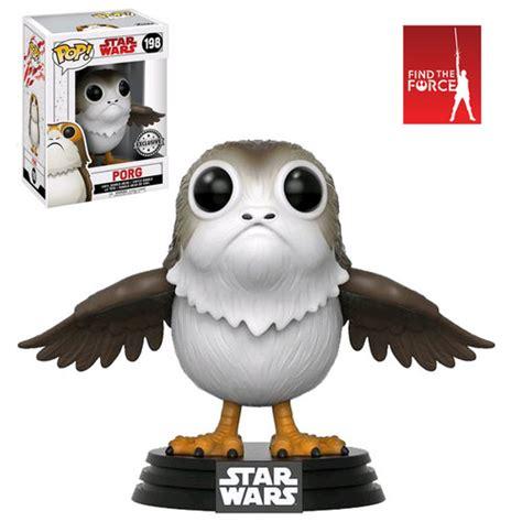 Funko Pop Original Wars Viii The Last Jedi Chewbacca With Porg funko pop wars episode viii the last jedi 198 porg with open wings new mint your