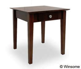 winsome wood end table antique walnut winsome wood rochester end table antique walnut 94821