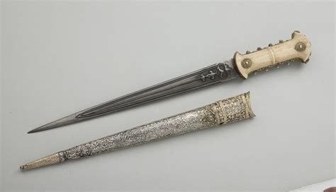L Armée Ottomane by Ottoman Hancer Court Dagger 18th Century Steel Silver