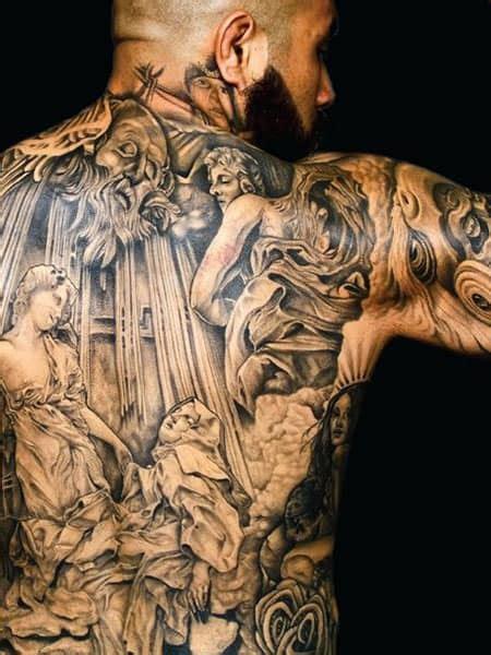 attractive men tattoos    powerful