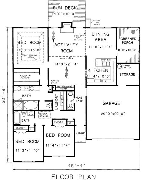 The House Designers House Plans | the carrollton 3298 3 bedrooms and 2 baths the house
