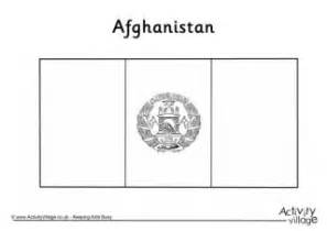 Turkey Flag Colouring Page Afghanistan Flag Coloring Page
