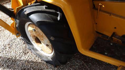 garden tractor tire repair tube install cub cadet  tlb youtube