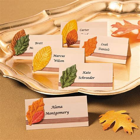 name card fall templat 2 x 3 1 2 the 25 best fall place cards ideas on fall