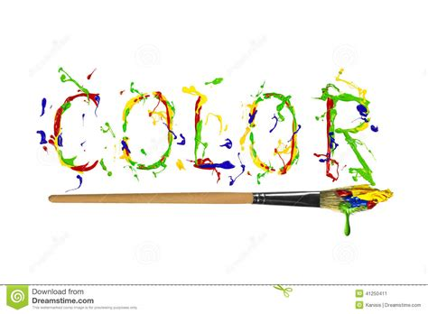 what time is world of color colorful paint painted word color stock illustration