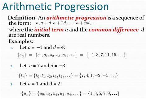 i 3 1 the definition sum of the n terms of an arithmetic progression a