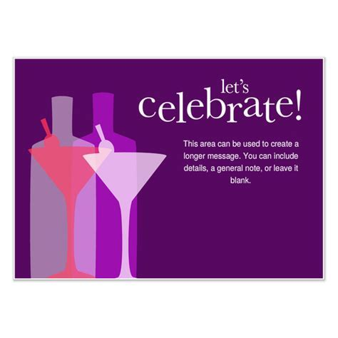 Let's Celebrate Cocktail Party, Invitations & Cards on