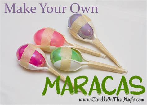 musical crafts for make your own maracas candle