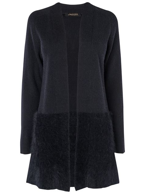 swing cardigan jaeger swing cardigan in black lyst