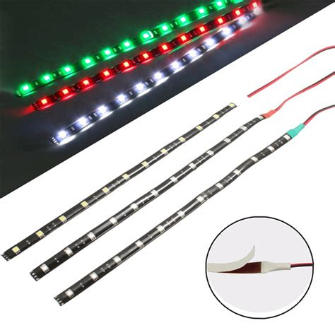 red and white boat lights 3pcs 12v 12 led lighting waterproof boat marine red green