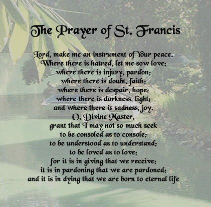 st francis  assisi prayers  quotes quotesgram