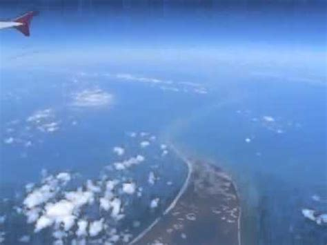 satellite image of ram setu real ram setu or ram setu flv