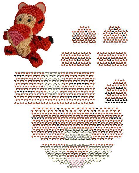 3d origami tiger tutorial 508 best 3d origami diagrammen images on pinterest