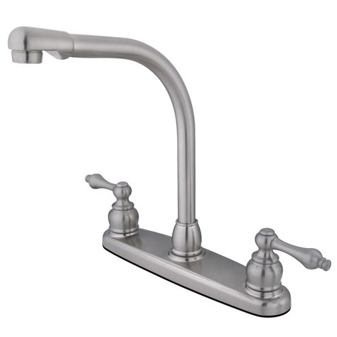 Kitchen Faucet For Less Kingston Brass Kb718alls High Arch Kitchen Faucet Less Sprayer Satin Nickel