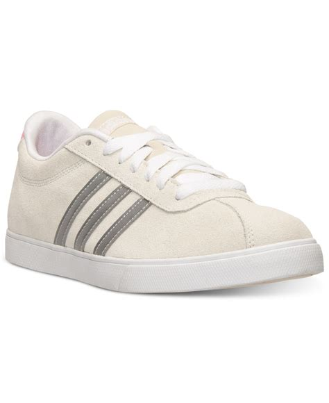 sneaker line lyst adidas s courtset casual sneakers from finish