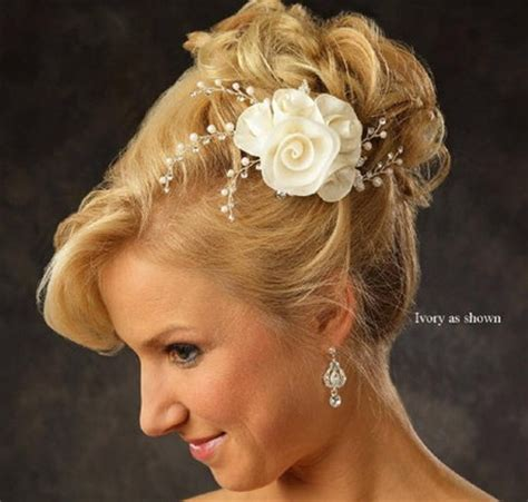 Flower Hair Accessories For Weddings by Flower Wedding Hair Accessories