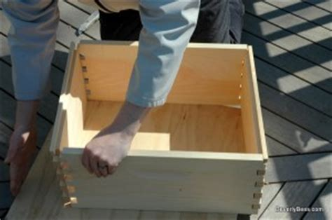 how to put a box together how to assemble a bee hive box or super a beginner