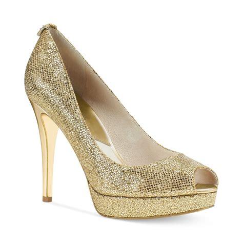 M Hael Kors New York Gold michael kors michael york platform pumps in gold gold
