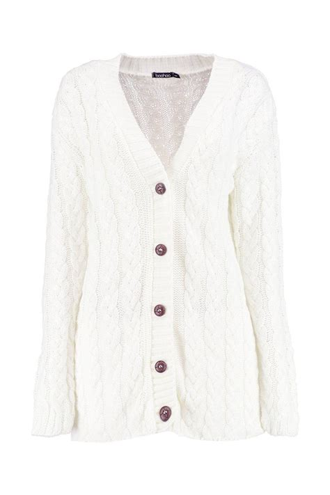cable knit cardigan womens boohoo womens cable knit cardigan ebay