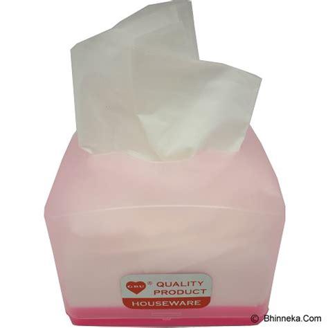 Tempat Tissue Kecil Tutup Rp1900 jual gbu houseware kotak tissue kecil pink v tempat tissue harga spesifikasi dan review