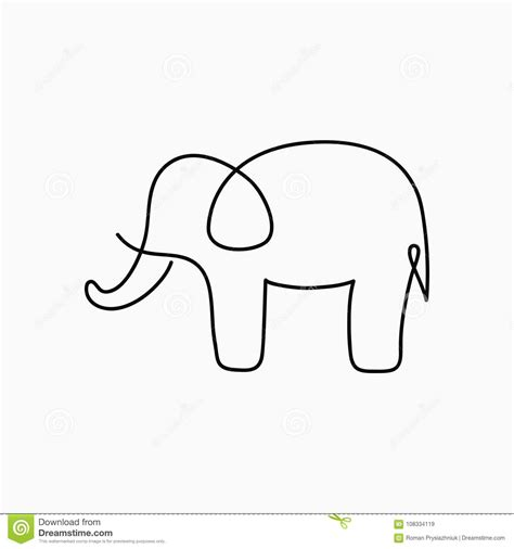 Drawing 7 Lines by Charming Elephant Line Drawing 13 Continuous One Of Indian