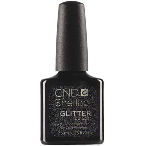 matte top coat on glitter cnd shellac alluring trilogy collection glitter top coat