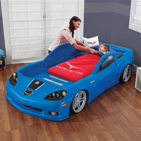 corvette toddler bed set corvette 174 toddler to bed with lights blue
