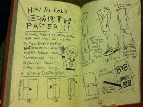 How To Fold A Of Paper Into An Envelope - 10 fold darth paper w instrux