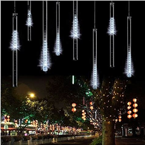 falling rain drop icicle lights surlight led falling lights with 30cm 8 144 leds import it all