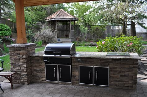 bbq outdoor kitchen islands cultured traeger bbq island with beverage cold well grilling with rich