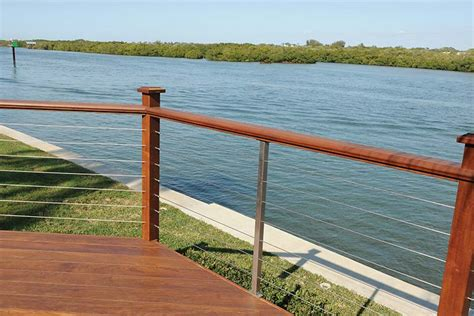 boat dock steel cable deck cable railing stainless steel railing system