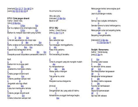 belajar kunci gitar st12 saat terakhir chord lagu skj lirik lagu lirik lagu cinta dua hati